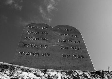 Les Tables de la Loi avec les 10 commandements