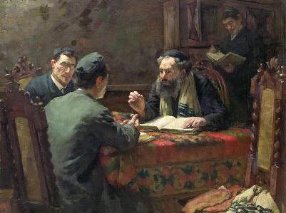 Judaica Oil Painting Wilhelm